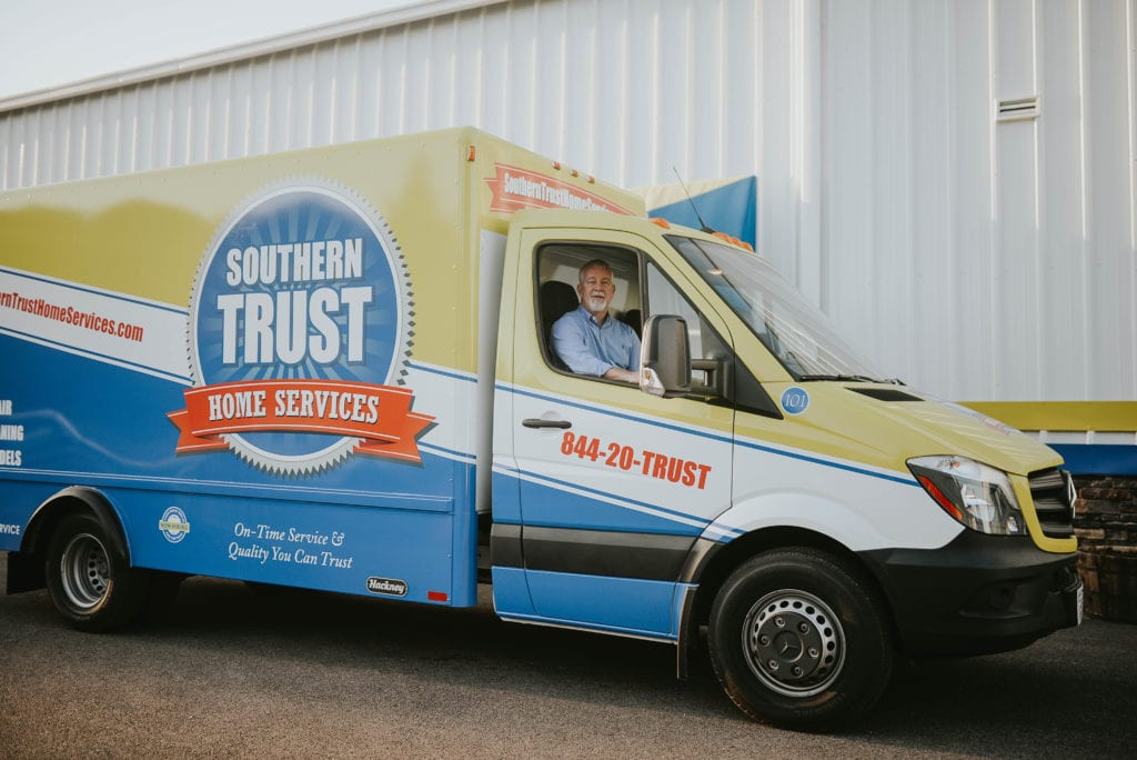 Contact Southern Trust Home Services truck