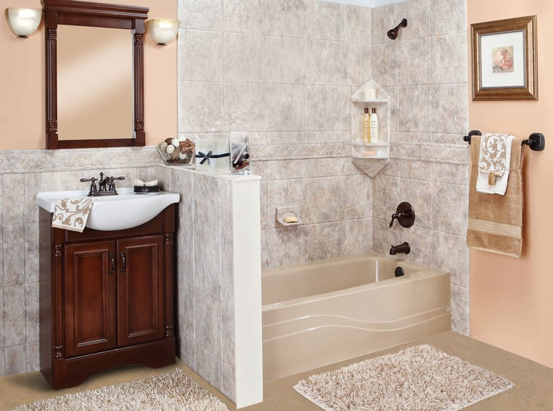 Roanoke VA White Granite Bathroom Remodel from Southern Trust Home Services